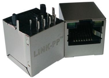 LPJD4012BENL, Vertical RJ45 Jack, 1CT: 1CT, 8P8C 10 / 100Mbps, Perisai LED G-Y