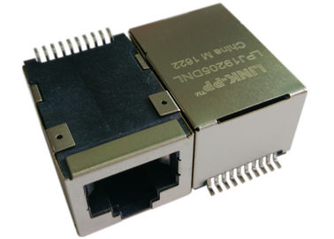 LPJ19205DNL SMT POE RJ45 Jack, 1x 10 / 100Mbps IEEE 802.3af Power over Ethernet